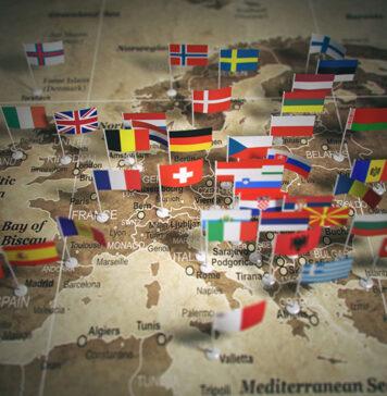 Mapa turystyczna Europy