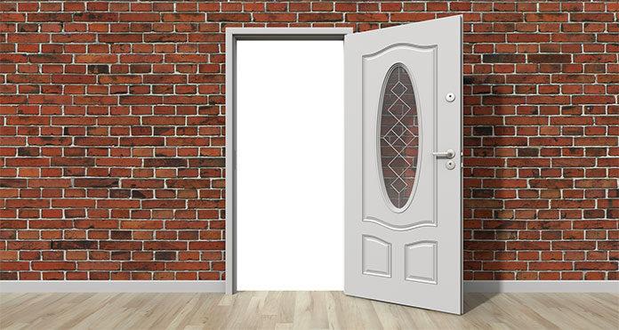 Klamka dopasowana idealnie do drzwi wewnętrznych